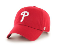 Philadelphia Phillies 47 Brand Clean Up Adjustable Field Classic Red Hat Cap