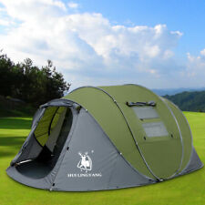 4-6 Person Pop Up Tent Double Layer Family Camping Tent Water Resistant Portable