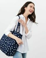 Joules Womens Hillwood Quilted Tote Bag - Navy White Star - One Size