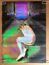 So Close Original Vintage Blacklight Poster Woman Psychedelic HeadShop Pinup 70s