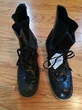 Black Charles David Leather Boots Size 10 Made In Spain