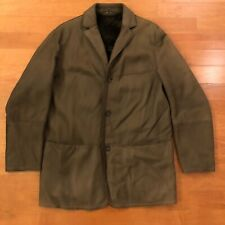 HUGO BOSS MENS BROWN LEATHER LAMBSKIN JACKET WITH SHEARLING LINING 38R