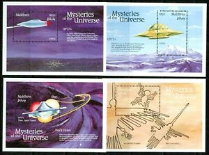 MALDIVES  – 1992 – MYSTERIES OF THE UNIVERSE – S/S- VF  **