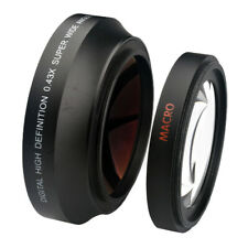 0.43x 72mm Wide Angle Lens+Macro for Canon XL1S XL1 XL2 XHA1 XH XH-A1 XH-G1