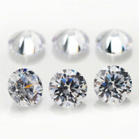 500pcs 0.7~70mm Round White AAAAA loose cz stone cubic zirconia Best quality