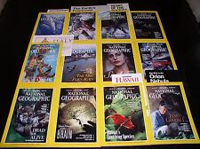 12 NATIONAL GEOGRAPHIC MAGAZINE COMPLETE SET 1995 ~ INCLUDES ALL SUPPLEMENTS