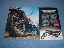 1976 Harley-Davidson SX-250 Vintage Motorcycle Ad SX250