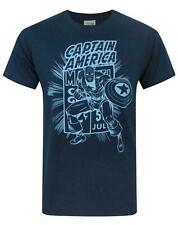 NEW MEN'S OFFICIAL MARVEL COMICS CAPTAIN AMERICA T-SHIRT SIZES: S, M, L & XL