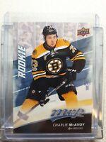 2017-18 UD MVP Rookie Charlie McAvoy - Boston Bruins