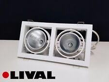 Lival 2x35W CDM-TC Mini Norm recessed downlight, white finish
