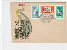 Poland 1961 UNICEF Children Pic Two Hands Slogan Cancel FDC Stamps Cover Rf25119