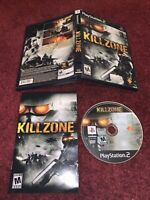 Killzone Sony PlayStation 2 CIB Complete I& TESTED! Nr Mint-Mint DISC! VERY NICE