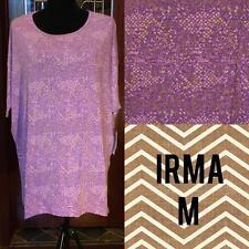 Lularoe Irma Medium Lavender Pink Yellow Print Beautiful!  NWT