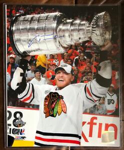 Autographed MARIAN HOSSA 11x14 Chicago Blackhawks 2015 Stanley Cup HOF