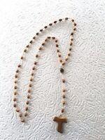 Chapelet catholique chrétien rosaire religieux croix perles bois