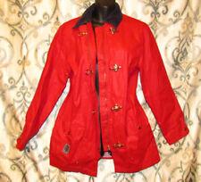 RALPH LAUREN Red Nylon WINDBREAKER JACKET Gold Clasps LRL 067 Polo Rain Coat