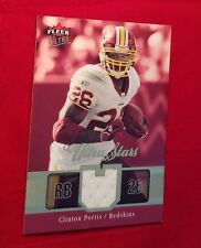 Clinton Portis #51 Miami Fleer Ultra Stars 2003 Rookie Jersey Card Redskins