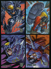 DC VS MARVEL Fleer-Skybox 1996 Complete AMALGAM PREVIEW 4 CARD SET