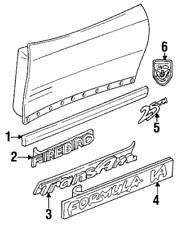 OEM Genuine GM Body Side Molding 93-02 Pontiac Firebird 10166786