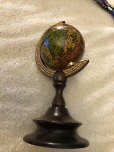 Vintage Old World Zona Torrida Spinning Globe for Desktop or Shelf