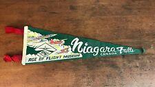 "Vintage Niagara Falls Canada Age of Flight Museum Souvenir Pennant 21"" (HD0)"