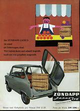 Zündapp - Janus 250 - Lieferwagen -- familiengerecht  - Werbung von 1958 - Farbe