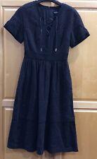 NWT $399 Karen Millen Black Lace Aline Dress Size 8UK