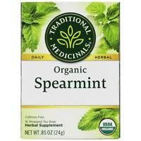 Traditional Medicinals - Organic Spearmint Herbal Tea - 16 Tea Bags
