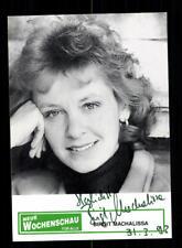Birgit Machalissa Autogrammkarte Original Signiert # BC 121008