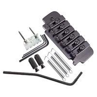 1 Set Saddle Tremolo Bridge System Black for 6 String Electric Guitar Parts