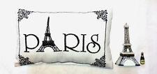 """""""Paris""""  Accent Pillow & Eiffel Tower Porcelain Hinged Box - Gift Set - Unique!"""