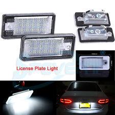 2x FEUX ECLAIRAGE DE PLAQUE LED BLANC XENON POUR A3 A4 B6 B7 A6 S6 A8 Q7 RS4 RS6