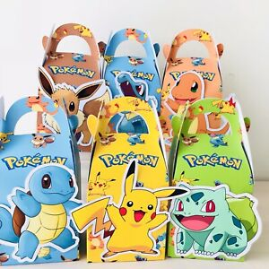 6x Pokemon Pikachu 2020 Lolly Loot Bag Box. Party Supplies Bunting Cake Banner