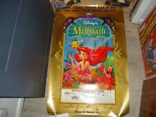 THE LITTLE MERMAID DVD MOVIE POSTER 1 Sided ORIGINAL 26x40 DISNEY