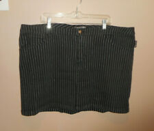 Tripp NYC Black Denim and whte stripes Skirt Short or Mini stretchy size 26