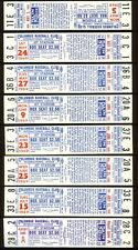 1968/70 Columbus Jets MinorLg Pirates 17 Unused Tickets