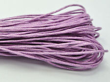 100 Meters Light Purple Waxed Cotton Beading Cord 1mm for Bracelet Necklace