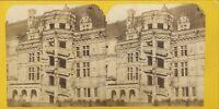 Castillo De Blois Escalier François 1e Francia Estéreo Vintage Albúmina Ca 1870