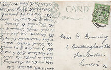 Genealogy Postcard - Family History - Gunning - Harlesden - London N   GN946