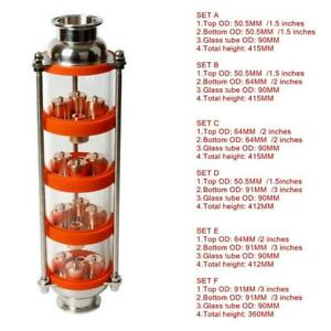 Copper Bubble Distillation Column With Four Sections For Distiller Glass Column