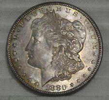 1880-S Morgan Silver Dollar Choice Brilliant Uncirculated Golden Toning