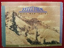 Telluride Colorado Ski Resort Trail Map Skiing Brochure 1994-1995