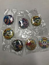 Rare Japanese Tamagotchi Button Badges 7 Set BANDAI From Japan New Unopen