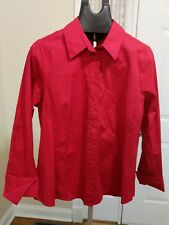 Lane Bryant Red Long Sleeve Button Down Blouse, NWT, Size 16