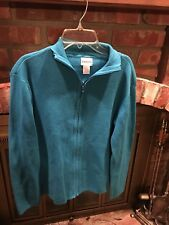 Chico's Zip Up Cardigan Sweater Women's Size 1 Blue