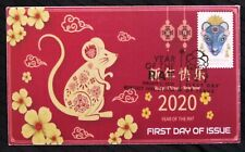 YEAR OF THE RAT FIRST DAY OF ISSUE USA 2020 Hand Made