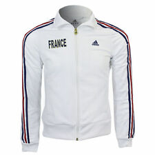 NUOVO Donna Calcio Francia Adidas Con Cappuccio Felpa Zip Tuta Top Taglia XL