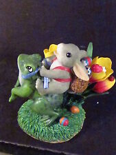 Charming Tails Hoppin' Down The Bunny Trail 88/710 Frog Tulips Rabbit
