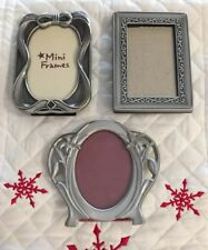 Set of 3, Seagull & Wilton Fine Pewter, 2x3 Picture Frames, Excellent Condition