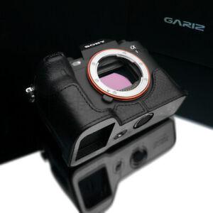 Gariz XS-CHA1BK Genuine Leather Half Case for Sony A1, Black